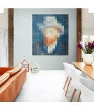 IXXI myworld Tableau Pixel autoprotrait Van Gogh bleu orange
