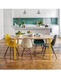 tiptoe design pieds de table à manger bureau amovibles hauteur 75 cm metal laqué