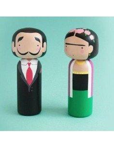 LUCIE KAAS Figurine en bois Kokeishi Salvador