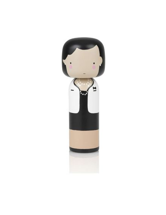 LUCIE KAAS Figurine en bois Kokeishi coco chanel