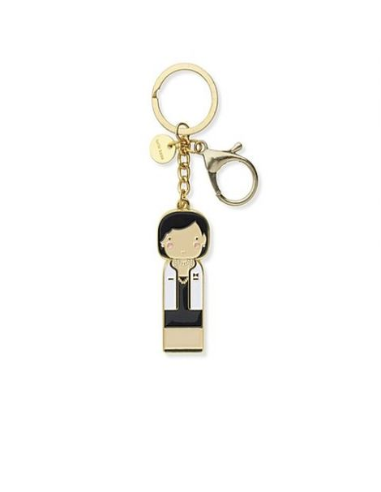 LUCIE KAAS Becky Kemp Sketch Inc. Figurine porte clés metal Coco Chanel