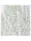 RÄDER DESIGN Serviettes en papier jetables 33X33 cm blanc et vert décors feuillage stylisé