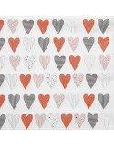 RÄDER DESIGN Serviettes en papier jetables cocktail 25x25 cm coeurs rouges fond blanc