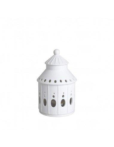 RÄDER DESIGN Maison photophore pagode en porcelaine blanche petit modèle bougeoir