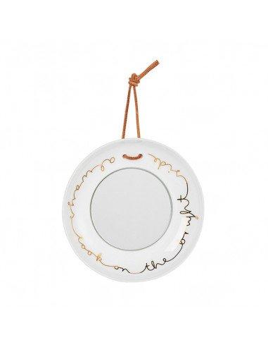 Räder decoration porcelaine blanche Mini miroir assiette look on the bright side
