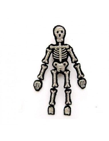 Broche brodée - Squelette