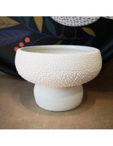 Räder decoration grès blanc bol coupelle perles petit modèle