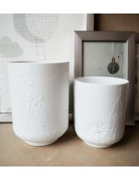 "RÄDER DESIGN Photophore porcelaine ""Feuillage"""