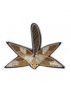 MACON ET LESQUOY paris bijoux Broche Brodée libellule