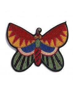 MACON ET LESQUOY paris bijoux Broche Brodée papillon