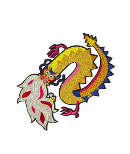 MACON ET LESQUOY Écussons patch brodé thermocollant dragon