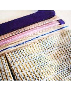 ANNA KASZER Paris Sac bandoulière toile imprimée Oka motif waso coloris erno violet