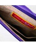 ANNA KASZER Paris pochette porte-monnaie en toile imprimée modèle Ezo motif niko coloris violet