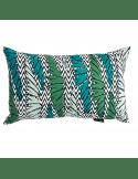 MR & MRS CLYNK Coussin rectangle palmes bleu vert