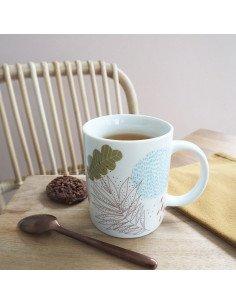 MINILABO Mug en porcelaine poésie décors végétal stylisé