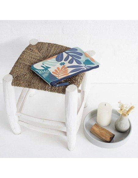 MINILABO Pochette toile cirée Tropic bleu