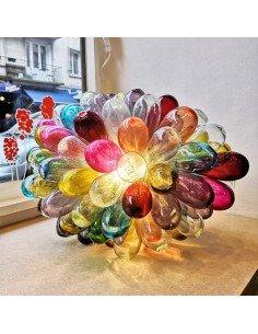 Lampe Baladi tutti frutti PM maison d'alep artisanat syrien verre soufflé bouche multicolore