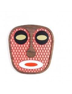 UMASQU Masque moderne africain bois #7