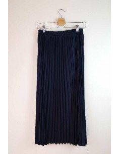 Ange Paris - Jupe plissée Anastasia bleu nuit
