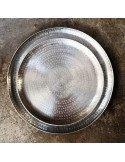 BAZARDELUXE Plateau indien en métal poinçonné GM