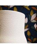 RÄDER DESIGN Vase porcelaine blanche mate Perles émail brillantes grand modèle